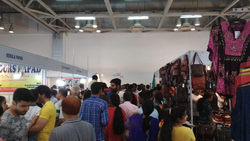Visitors enjoying shopping at IIMTF Noida 2018