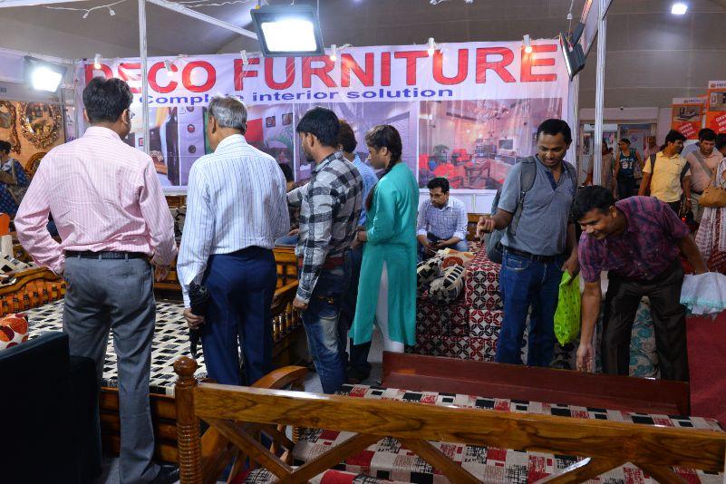 Visitors exploring some good quality furniture