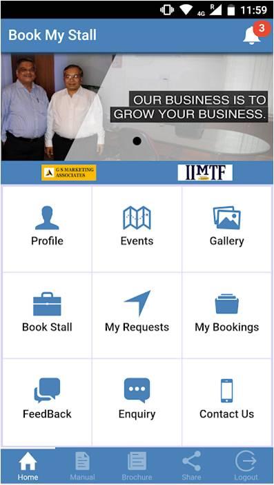 book my stall app iimtf