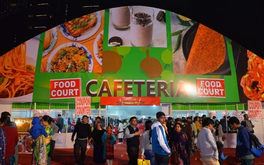 IIMTF food cafeteria. Leading B2C exhibition in India