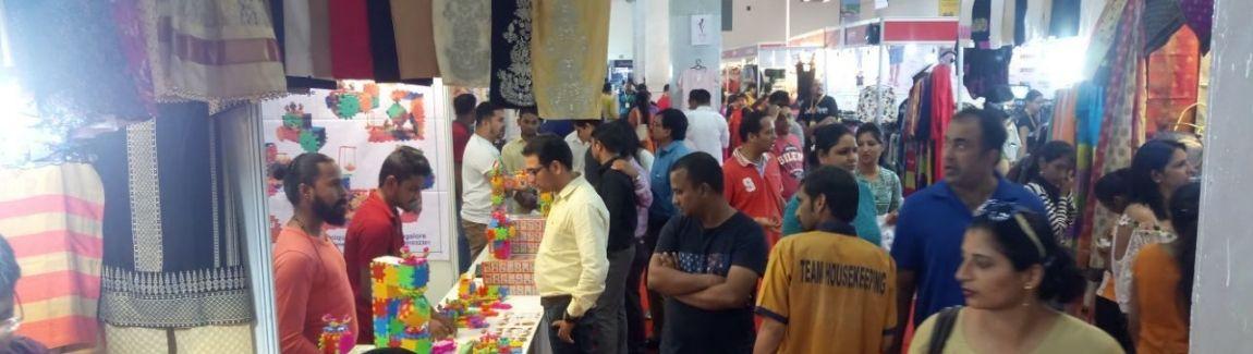 People enjoying shopping at IIMTF