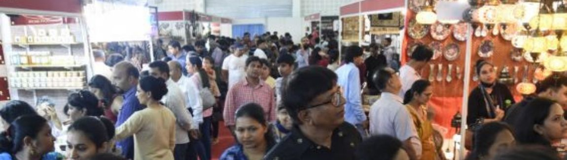 People shopping at IIMTF Ahmedabad