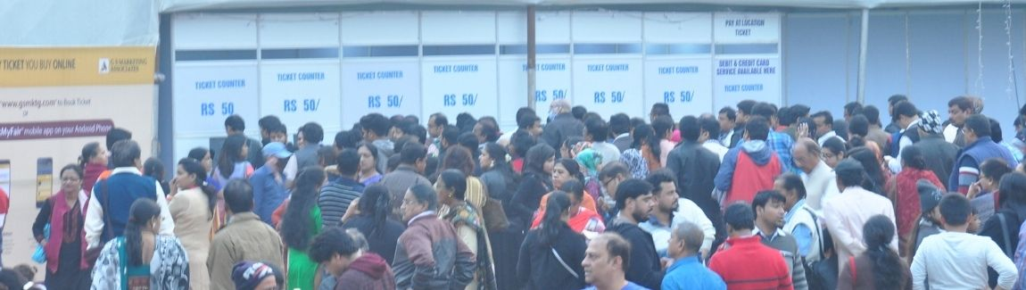 Queuing up for shopping at IIMTF