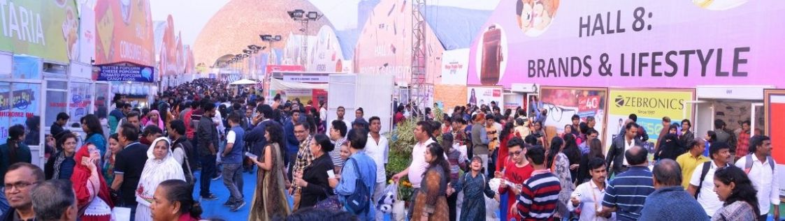 Visitors shopping at IIMTF