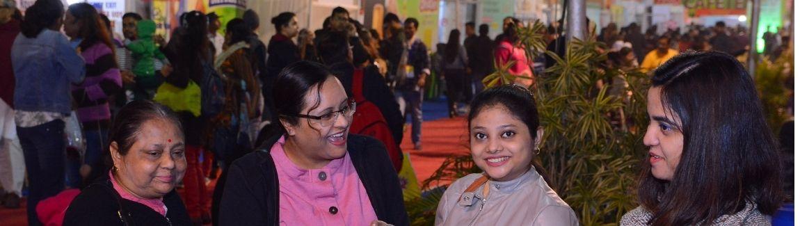 Happy visitors at IIMTF