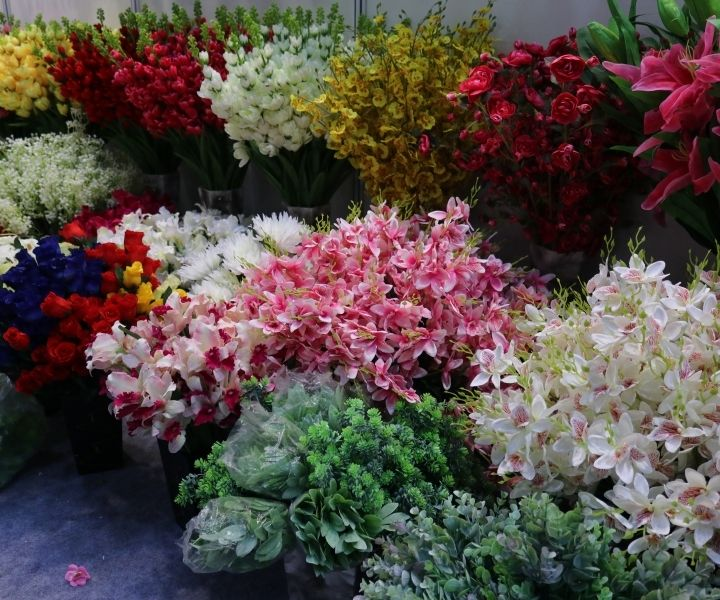 India International Mega Trade Fair Thailand Artificial Flowers