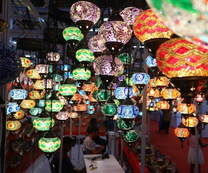 India International Mega Trade Fair Turkey Crystal Lampsheds