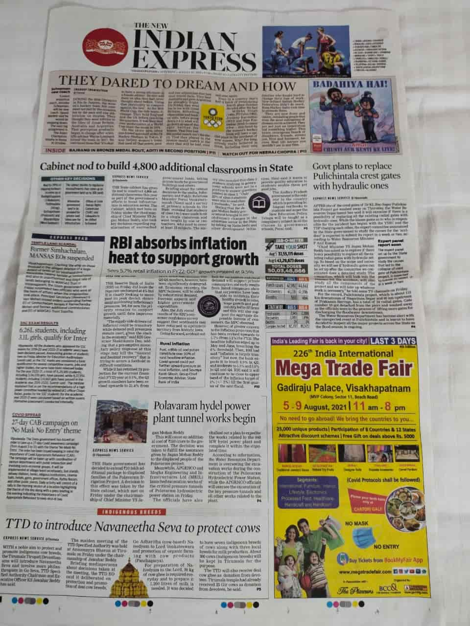 India International Mega Trade Fair Vizag 2021 Gadiraju Palace 5th August